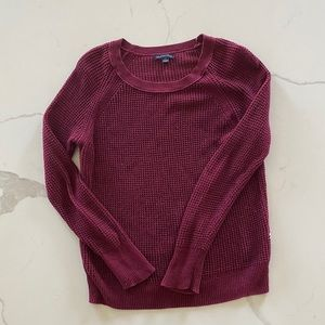 American Eagle waffle knit crew neck sweater